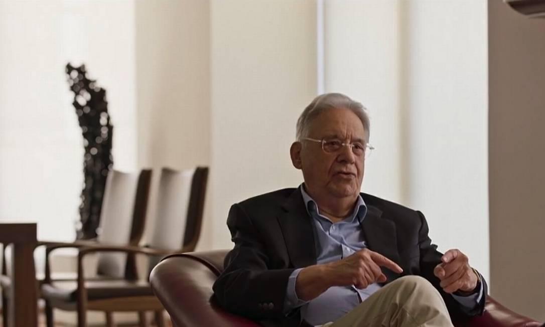 Cena do documentário 'O presidente improvável', sobre o ex-presidente Fernando Henrique Cardoso Foto: Reprodução