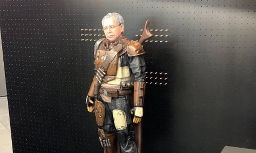 Paulo Guedes ganha estátua inspirada em 'Star Wars' Foto: Reprodução / Twitter
