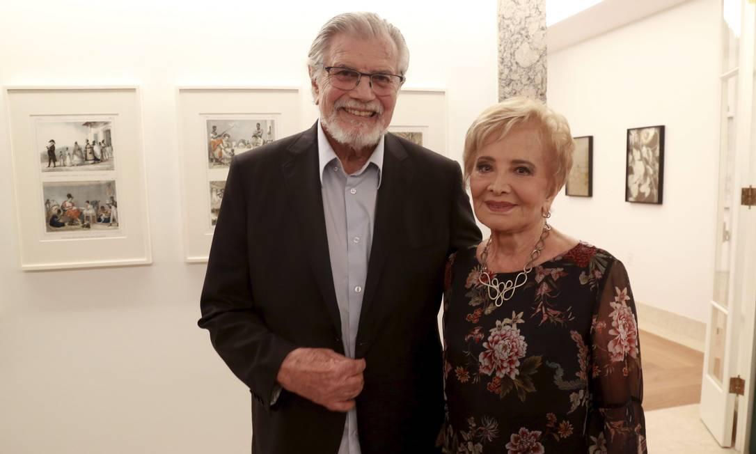 O casal Tarcísio Meira e Glória Menezes: ícones da televisão Foto: Marcos Ramos / Agência O Globo/24-04-2018