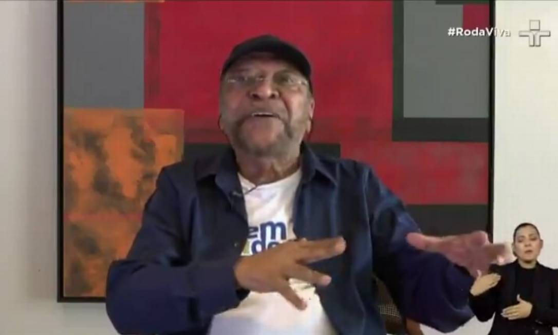 Martinho da Vila, em entrevista ao programa 'Roda viva' Foto: Reprodução