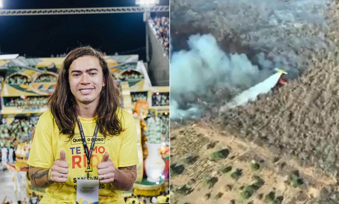 Whindersson Nunes envia aviões para combater queimadas no Piauí Foto: Agência O Globo