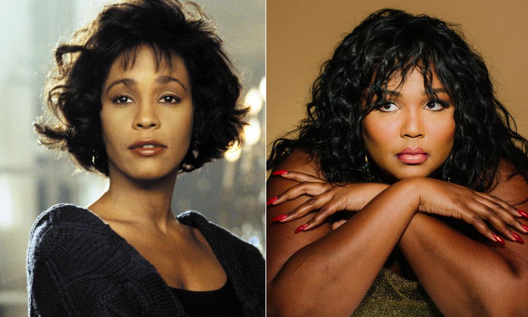 As cantora Whitney Houston (à esquerda) e Lizzo Foto: Divulgação