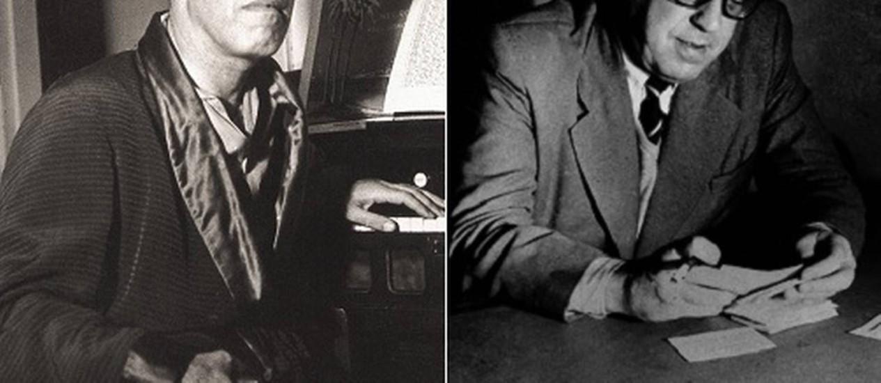 Mário de Andrade (à esquerda) e Sérgio Buarque: carinho e desacordo construtivo em cartas Foto: Arquivo