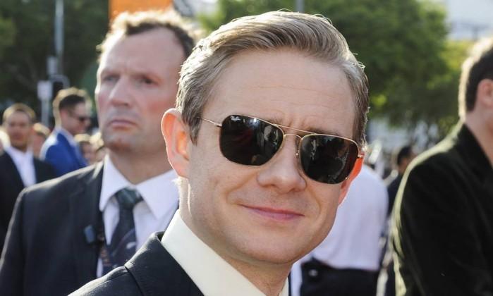Martin Freeman, que interpreta o hobbit Bilbo Bolseiro, personagem principal da saga Mark Coote / Reuters