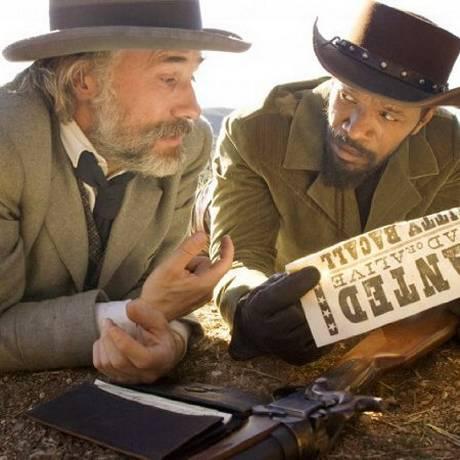 Christoph Waltz e Jamie Foxx em 'Django livre': com cortes e cenas editados, filme estreou na China Foto: Divulgação