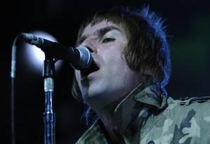 Liam Gallagher disse que voltaria com o Oasis para comemorar os 20 anos de lançamento do primeiro álbum Foto: Steffen Schmidt / AP