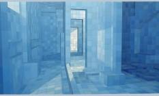 O óleo sobre tela 'O sedutor' (2004), de Adriana Verjão, da série 'Saunas e banhos' Foto: Reprodução
