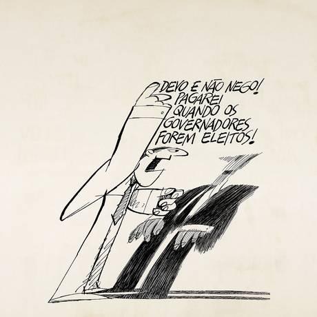Traços de Ziraldo para frases de Drummond Foto: Divulgação