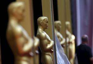 Estatuas do Oscar no teatro Dolby Foto: MARIO ANZUONI / REUTERS