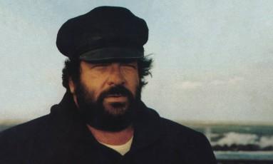 Bud Spencer como o personagem Bulldozer, de filme de 1978 Foto: Reprodução / Facebook