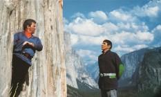 William Shatner e Leonard Nimoy em cena de 'Star Trek V' Foto: Divulgação