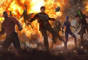Os personagens da nova aventura dos Guardiões da galáxia Foto: Divulgação