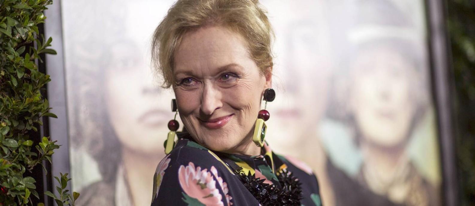 A atriz Meryl Streep vai receber o prêmio Cecil B. de Mille Foto: MARIO ANZUONI / REUTERS