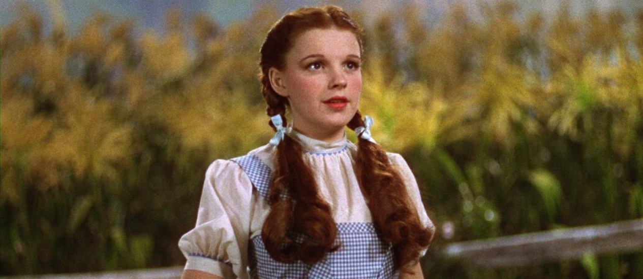 Judy Garland em 'O magico de Oz' Foto: Divulgação