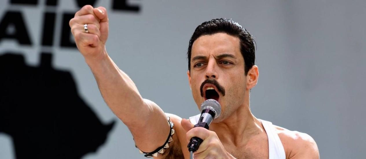 O ator Rami Malek no papel de Freddie Mercury Foto: Divulgação
