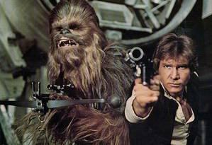 Han Solo e Chewbacca na saga
