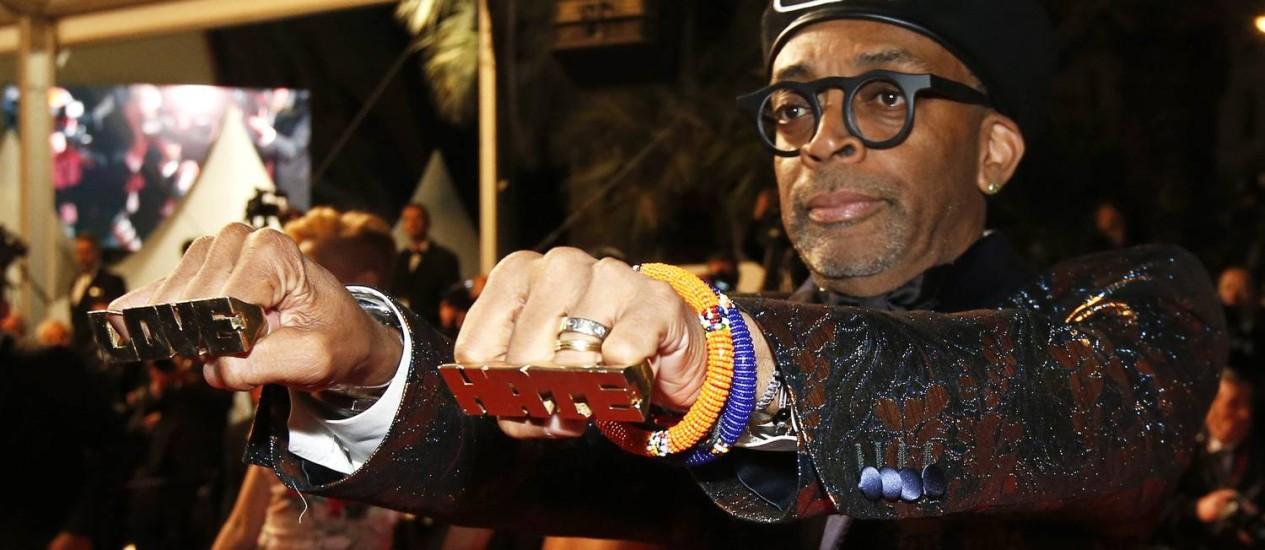 """O cineasta americano Sike Lee apresenta seu filme """"BlacKkKlansman"""" em Cannes Foto: STEPHANE MAHE / REUTERS"""