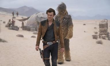 Alden Ehrenreich como Han Solo Foto: Divulgação