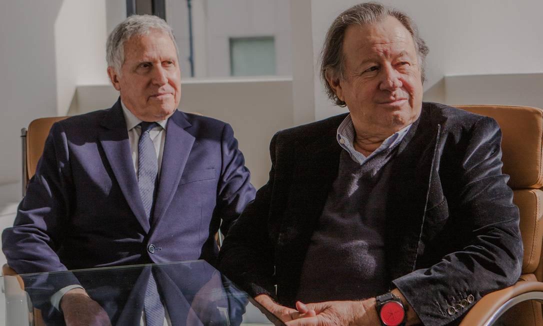 Dan Fellman (à esquerda) e Fred Rosen: filmes poderão ser vistos por US$ 1.500 a US$ 3 mil Foto: Alex Welsh / The New York Times