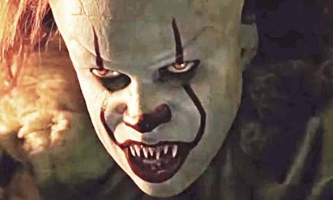 """O macabro palhaço Pennywise em cena do filme """"It: capítulo 2"""" Foto: Divulgação"""