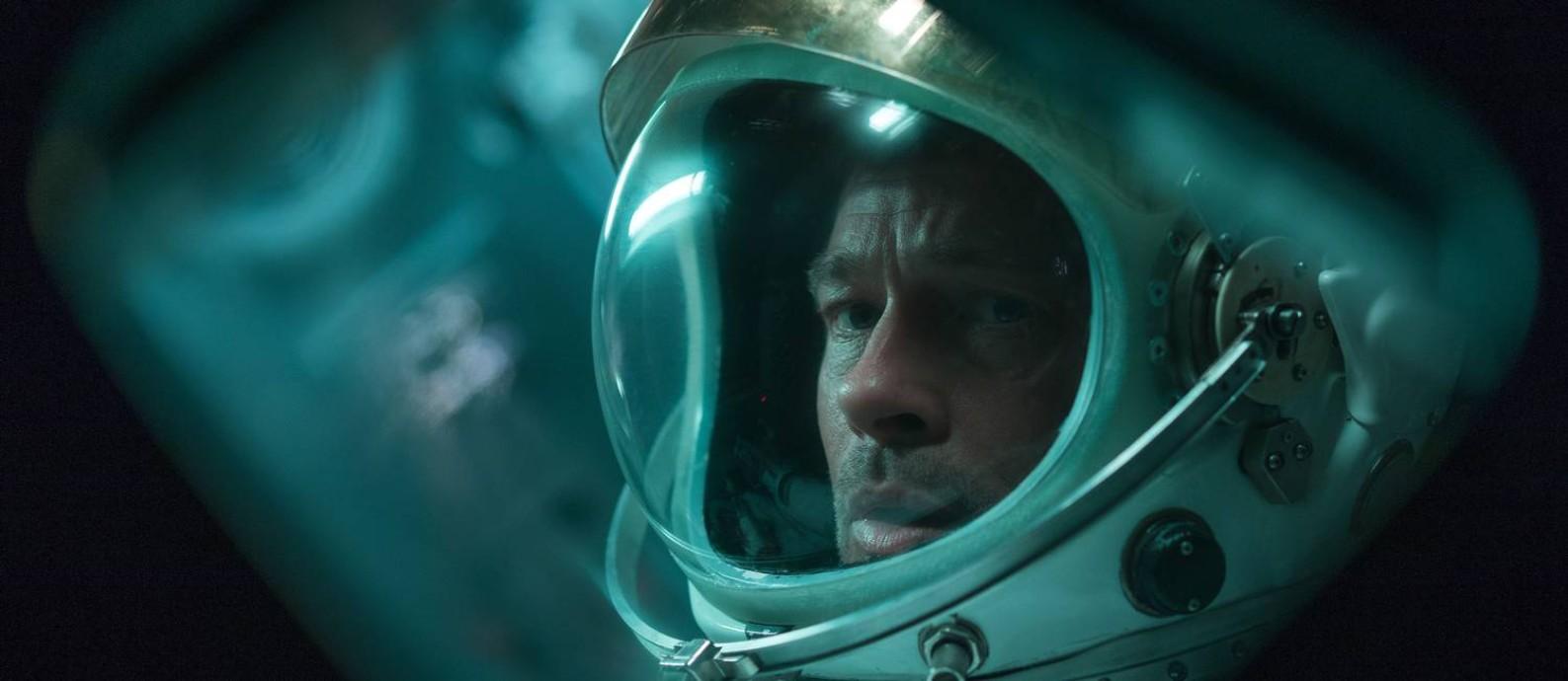 Brad Pitt em 'Ad astra', de James Gray Foto: Francois Duhamel / Divulgação