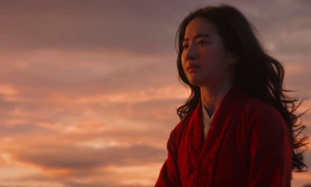 Estrela de 'Mulan', atriz chinesa Liu Yifei manifestou apoio à polícia de Hong Kong Foto: Reprodução / YouTube
