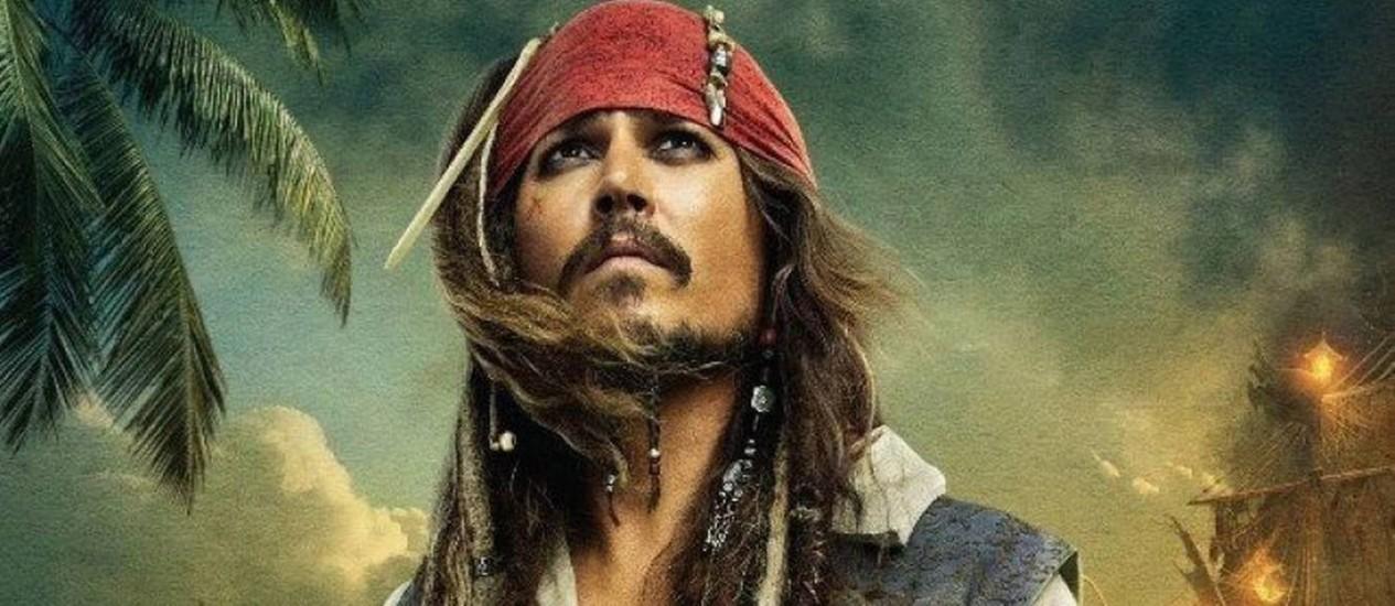 """Johnny Depp como Jack Sparrow em """"Piratas do Caribe"""" Foto: Divulgação"""