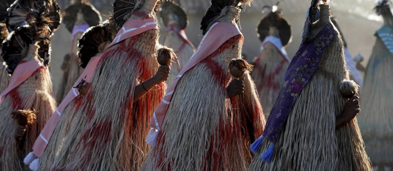 Ritual em aldeia pankararu na região de Tacaratu, sertão de Pernambuco Foto: Custódio Coimbra