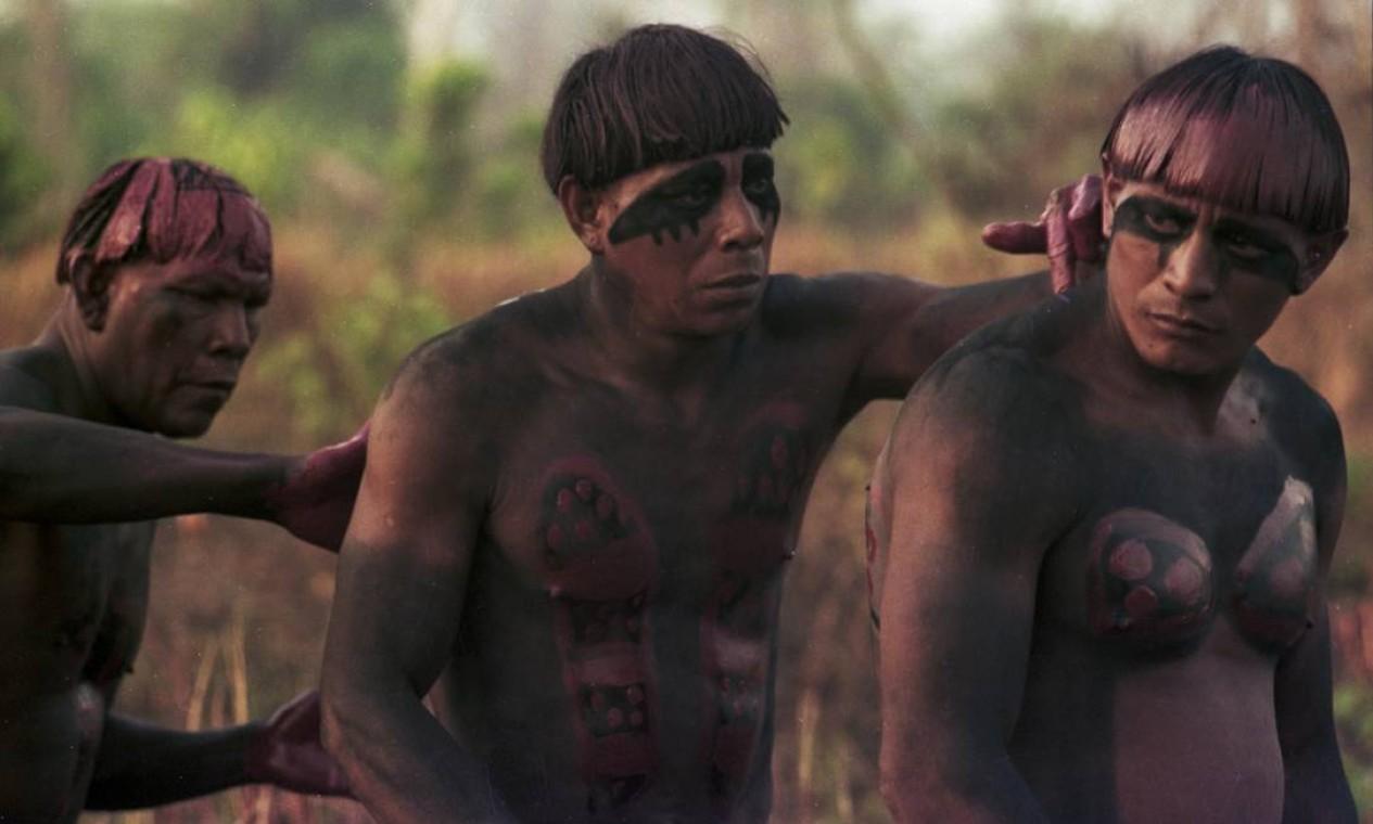 Mapukayaka pinta Sapaim que pinta Ayupu. Aldeia Yawalapíti, Alto Xingu, 1977. Foto: Divulgação/Eduardo Viveiros de Castro