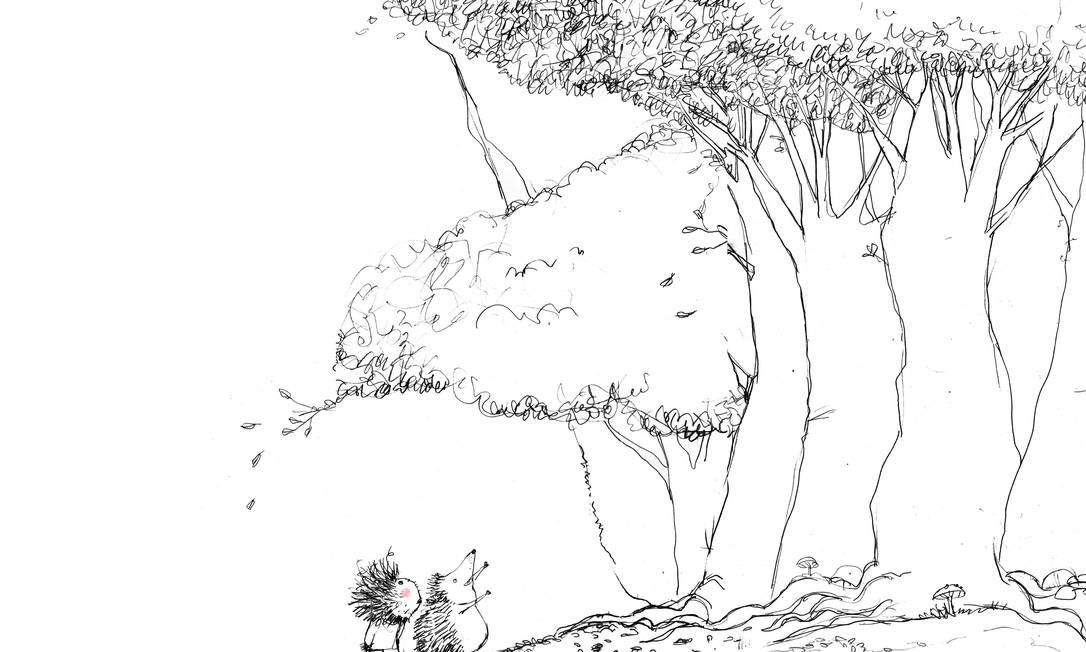 """MINIMALISMO. Ilustração do livro """"Otávio não é um porco espinho"""" (2015) Foto: Jean-Claude Alphen / Reprodução"""