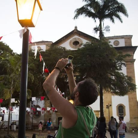 A Igreja da Matriz, na Praça de Paraty, que receberá os debates da Flip 2017 Foto: Monica Imbuzeiro / Agência O Globo