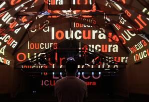 Praça da Língua, instalação do Museu da Língua Portuguesa e da Fundação Roberto Marinho na Bienal 2017 Foto: Divulgação / Divulgação