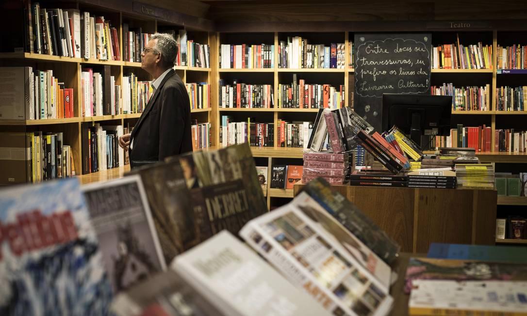 A livraria Cultura, no Centro do Rio. Fechamento refletiu no volume de vendas nofim de ano Foto: Guito Moreto / Agência O Globo