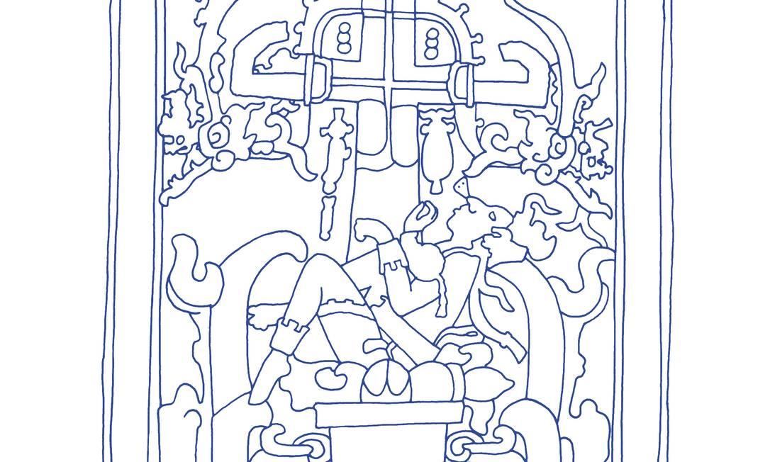 Ilustração de Francisco França para o livro 'Popol Vuh' Foto: Reprodução
