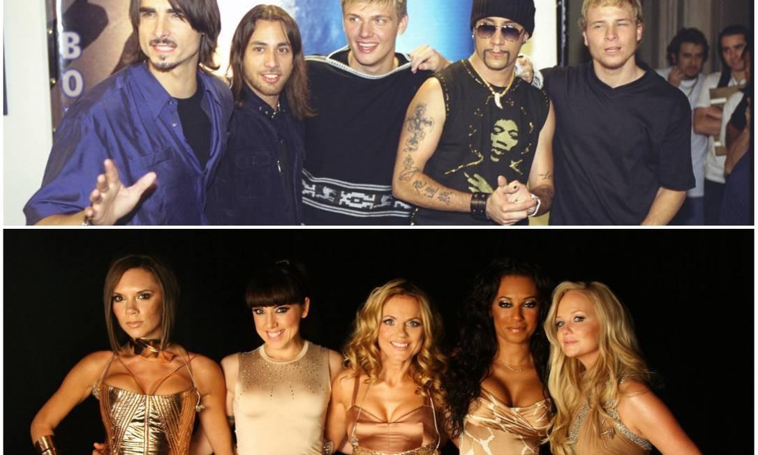As bandas Backstreet Boys e Spice Girls Foto: Fotos: Wania Corredo e Divulgação