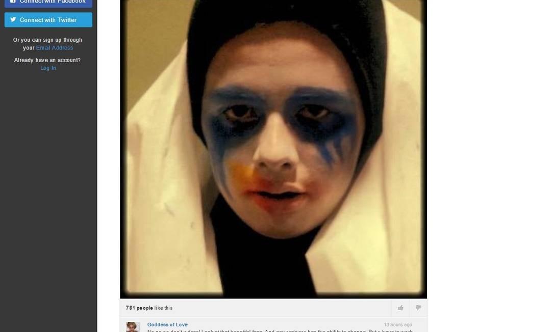 Lady Gaga responde fã brasileiro que escreveu carta de despedida na rede social Littlemonsters.com Foto: Reprodução