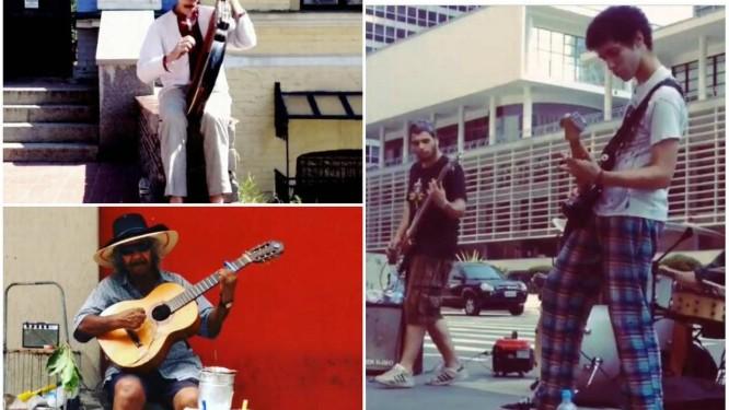 Artistas capturados pelo projeto StreetMicroDocs em São Paulo, Porto Alegre e Kiev Foto: Reprodução