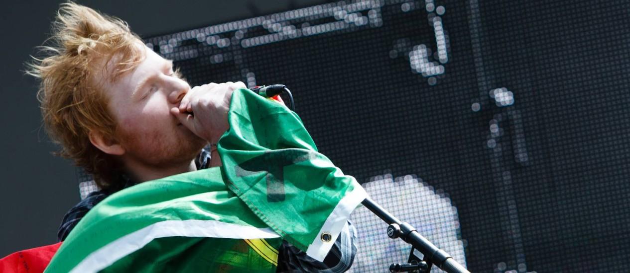 Ed Sheeran no Palco Mundo em Lisboa, no Rock in Rio Lisboa 2014 Foto: Agencia Zero / agenciazero.net