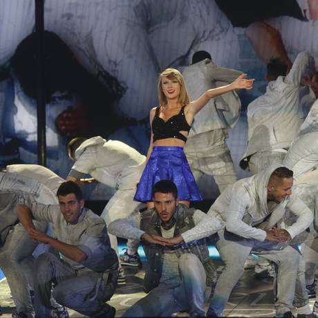 A cantora Taylor Swift durante o Rock in Rio Las Vegas, de 2015 Foto: John Davisson/AP