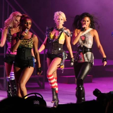 O grupo Pussycat Dolls em show de 2008 Foto: Divulgação