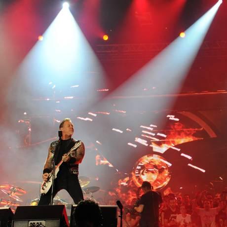 Metallica lançará CD com músicas gravadas no Bataclan durante turnê do álbum 'St Anger' Foto: AFP