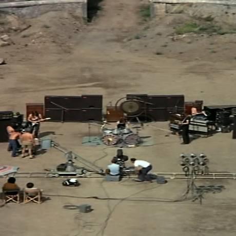 O Pink Floyd gravou músicas de três álbuns na cidade romana de Pompeia Foto: Reprodução