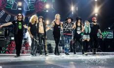 O Guns n' Roses com a formação atual, da turnê 'Not in this lifetime' Foto: Katarina Benzova / Divulgação / Guns n' Roses