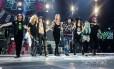 O Guns n' Roses com a formação atual, da turnê 'Not in this lifetime'