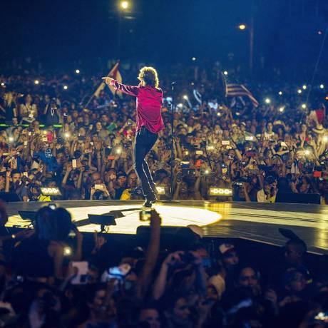 Show histórico dos Stones em Cuba Foto: Dave J. Hogan / Divulgação