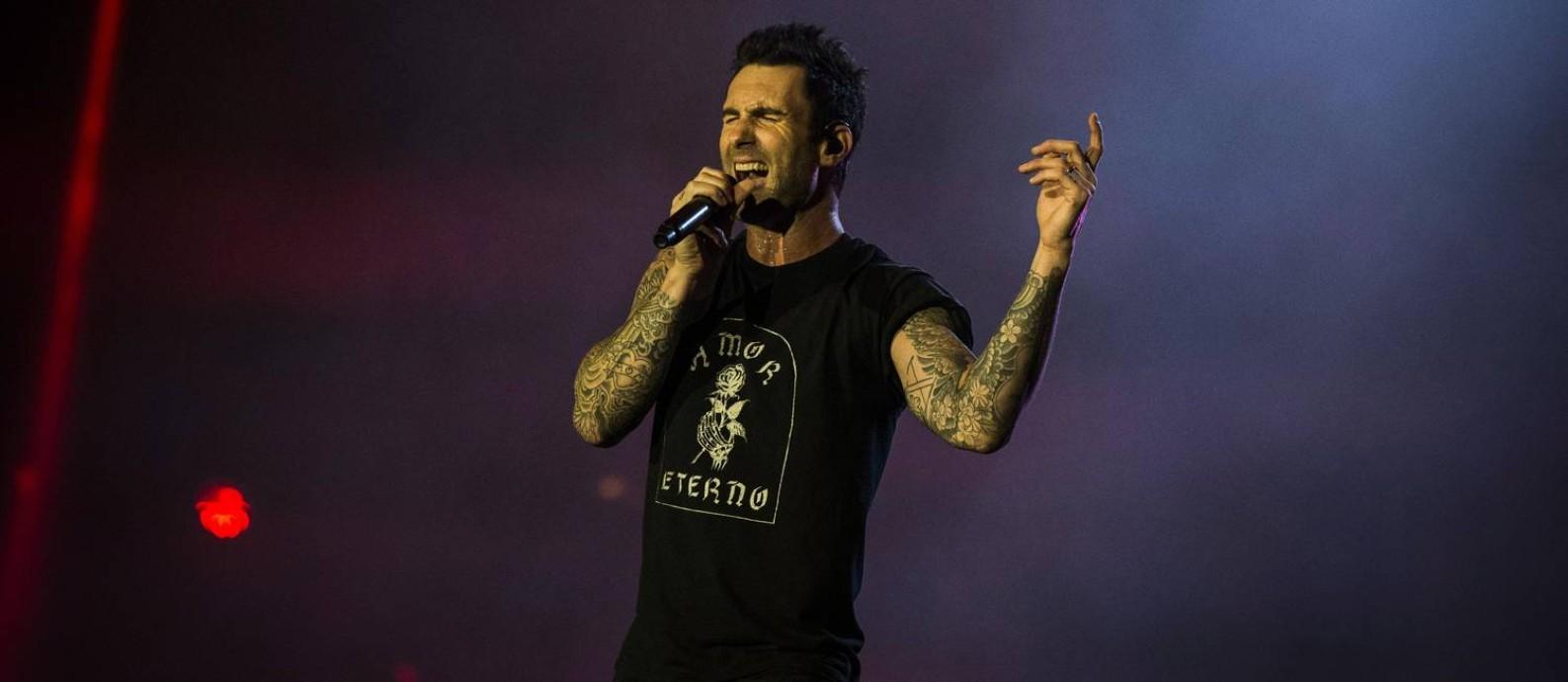 Adam Levine, do Maroon 5 Foto: Guito Moreto / O Globo