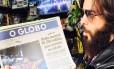 Jared Leto com O GLOBO na mão Foto: Reprodução Instagram