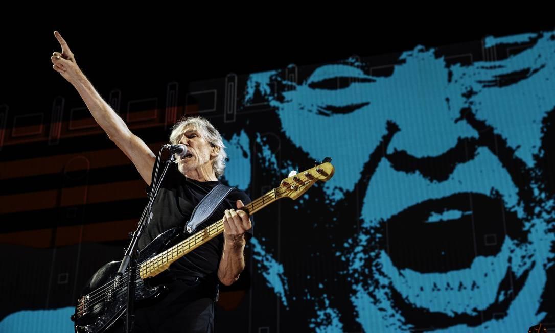 Roger Waters no palco da turnê