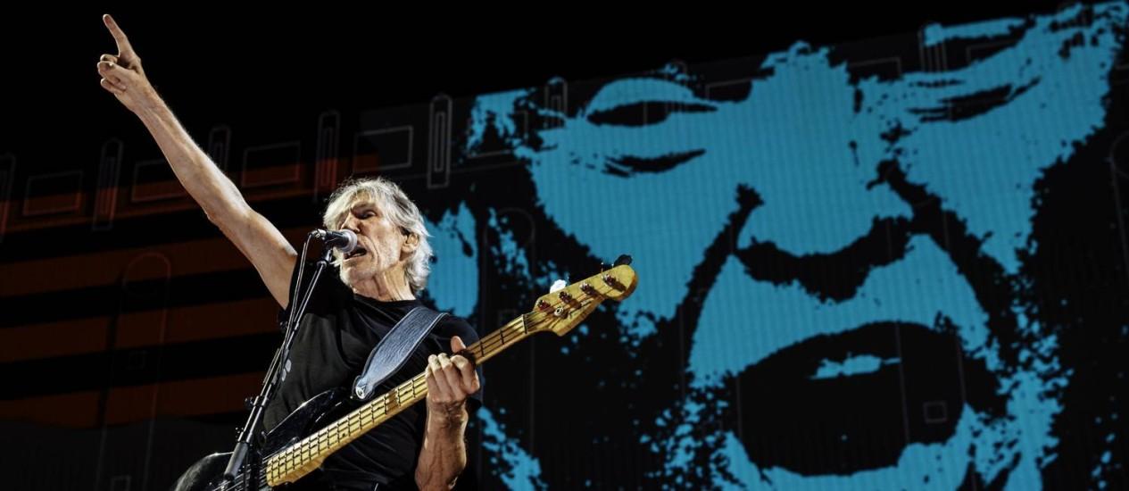"""Roger Waters no palco da turnê """"Us + them"""" Foto: Divulgação"""