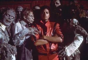 Michael Jackson no clipe de 'Thriller', faixa-título de seu álbum, o mais vendido de todos os tempos Foto: Divulgação
